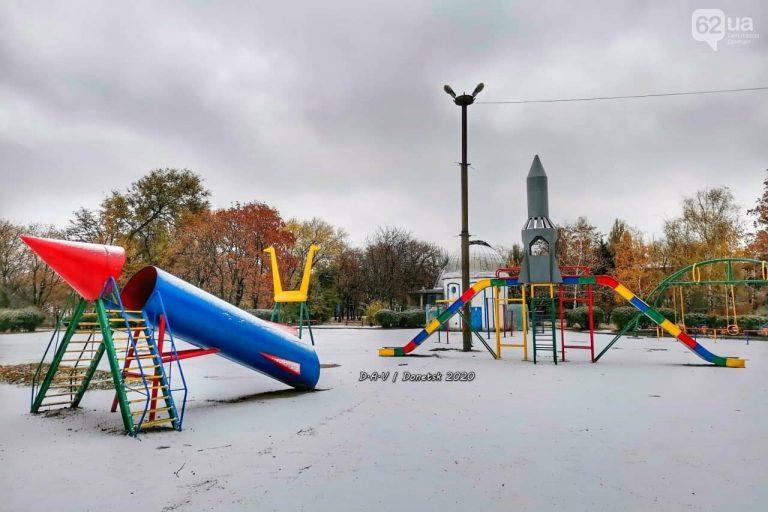 В Донецке выпал первый снег, – ФОТО
