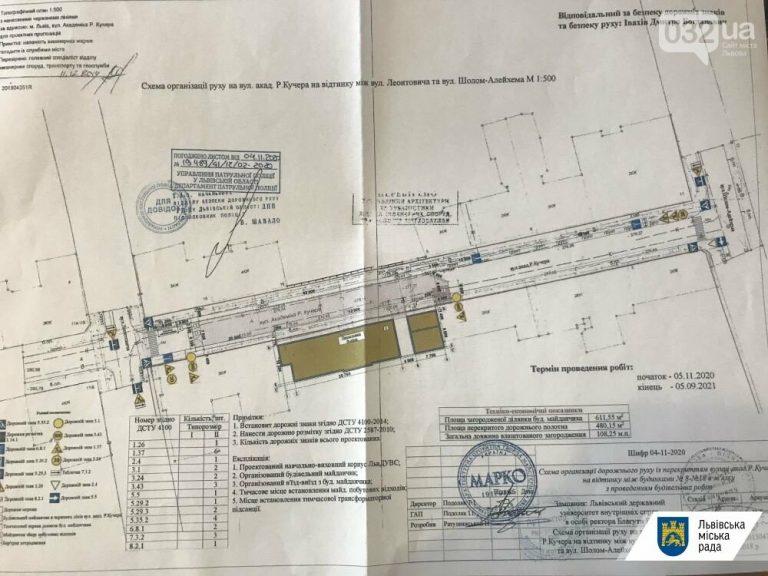 27 листопада у Львові на ремонт закривають вулицю Академіка Кучера: коли відкриють проїзд, – СХЕМА