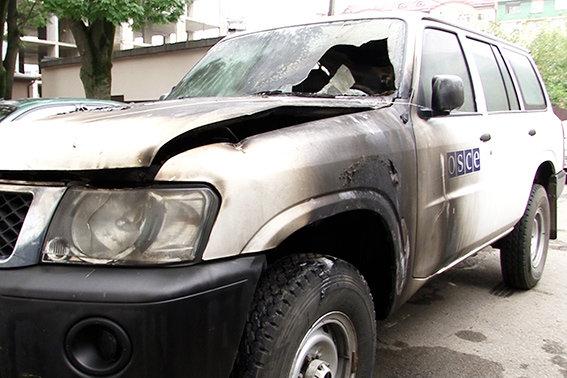 В Івано-Франківську підпалили автомобіль ОБСЄ