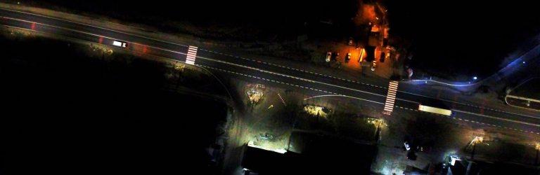 У селі під Черніговом працює унікальна система освітлення дороги