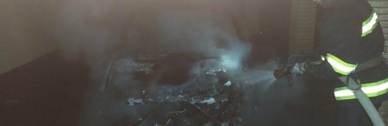 На Кіровоградщині палало авто: без рятувальників не обійшлось