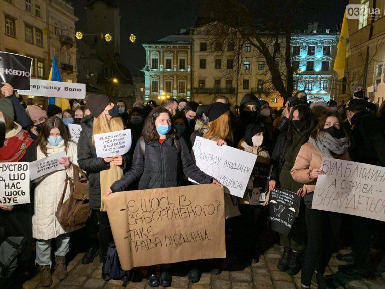 Стерненку Волю: у Львові організували акцію на підтримку одеського активіста, – ВІДЕО