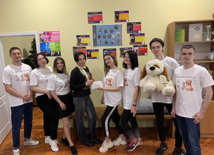 Cтуденти ЧДТУ зібрали майже 2 тисячі гривень на лікування тварин з вулиці