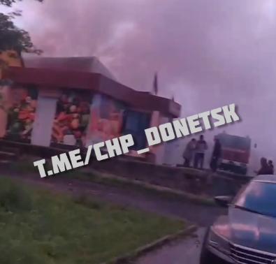 В Донецке горел магазин автошин, – ФОТО